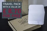 Lucis™ ABS Portable Colour Lamp - UK Plug + Tripod + ™ Travel Pack_